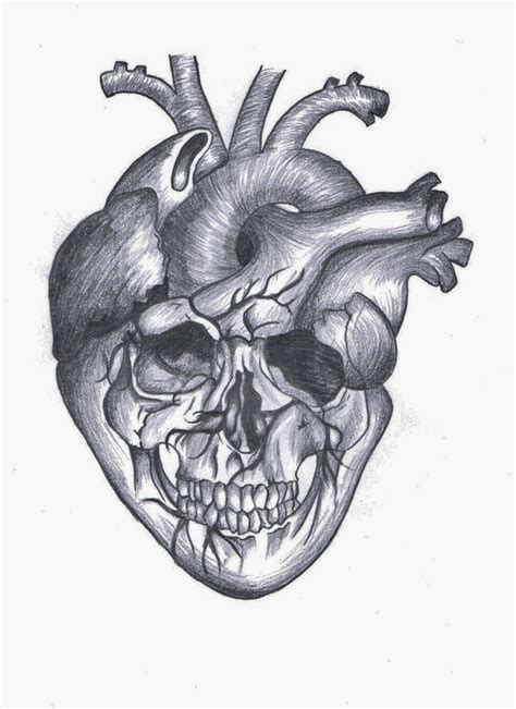 skull heart tattoo skull by luckychance07 on deviantart