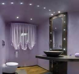 Beautiful modern purple bathroom design