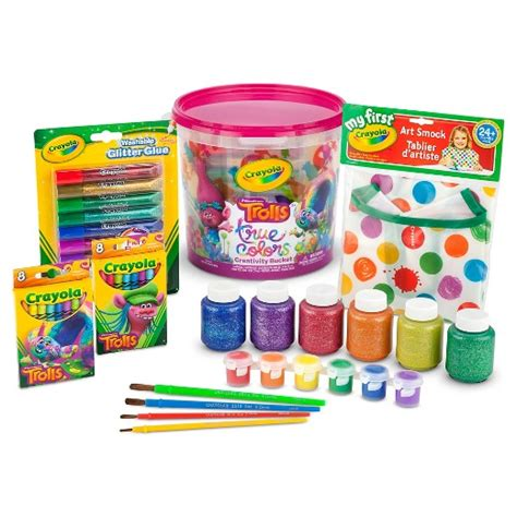 crayola 174 trolls true colors creativity target
