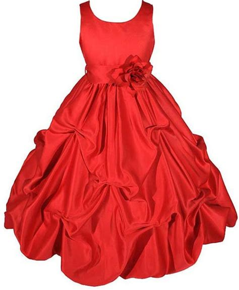 girls christmas holiday dresses red prom dresses