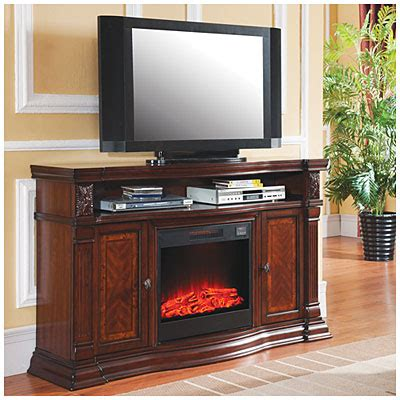 60 quot cherry media electric fireplace big lots