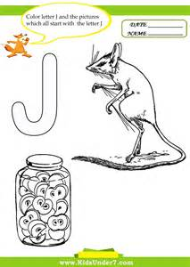 color that starts with j 7 letter j worksheets and coloring pages