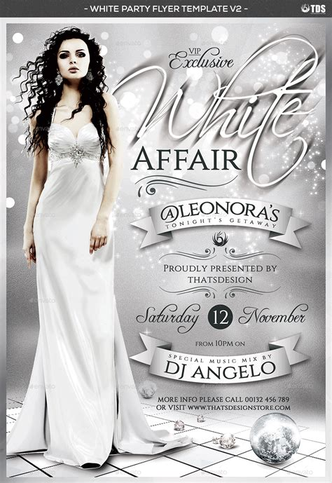 White Party Flyer Template V2 By Lou606 Graphicriver Bash Flyer Template V2
