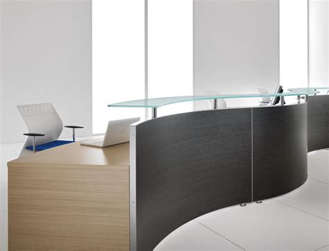 office furniture reception desks bralco wave 1 modular reception desk office furniture