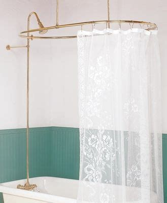 surround shower curtain shower surround bright brass oval braces only the o
