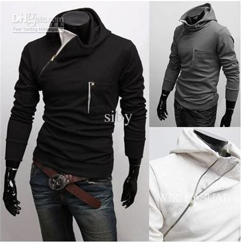 Jaket Korean Hoodie 19 Grayscale Size 2012 new korea fashion slanting zipper s hoodies
