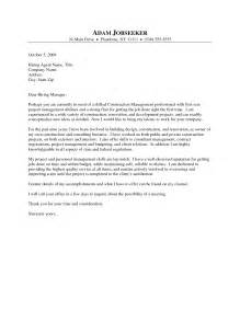Cover Letter For Construction Management by Sle Construction Cover Letter The Best Letter Sle