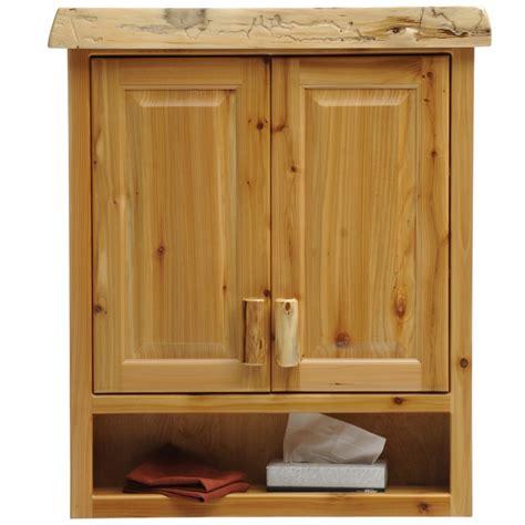 Fireside Lodge Cedar Medicine Cabinet   Inset