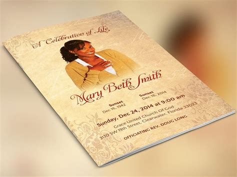 photoshop memorial card template 1000 images about best creative funeral program templates