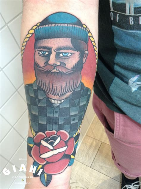 beard tattoo lumber beard by elda bernardes best ideas