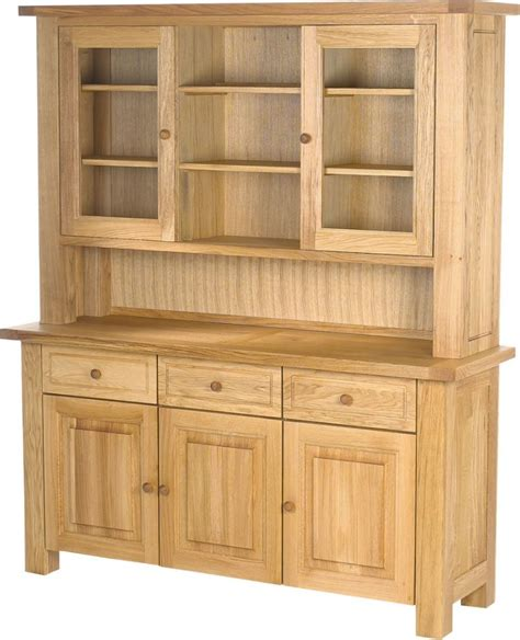 Door Dresser by Charltons Bretagne Solid Oak 3 Door Complete Dresser Sideboard
