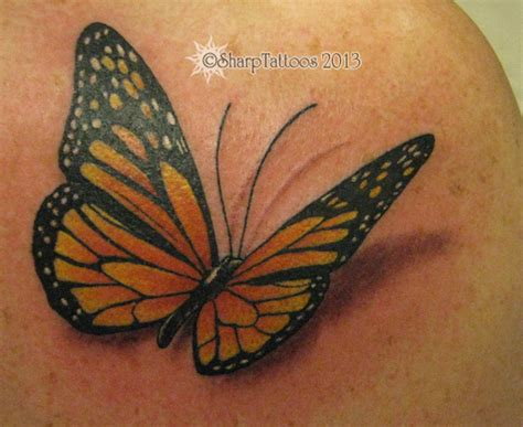 tattoo butterfly with shadow 3dbutterfly tattoo picture
