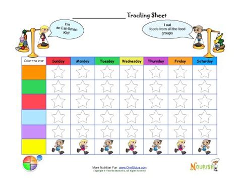 blank fill  custom healthy goal printable tracking sheet