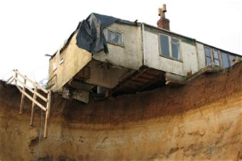 houses falling off cliffs pensioner finally leaves cottage that s about to fall off a cliff aol uk money