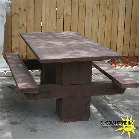concrete picnic table concrete picnic table suncoast