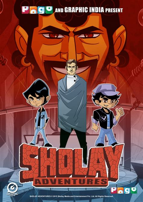 sholay film cartoon video pogo to air graphic india s animated version of sholay