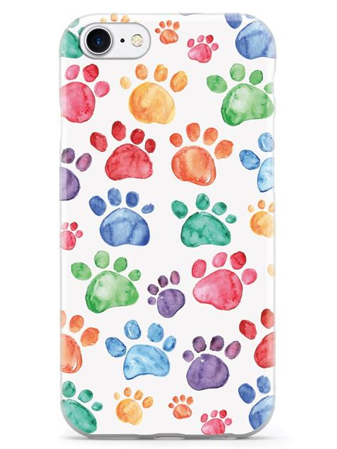watercolor paw prints case inspiredcases