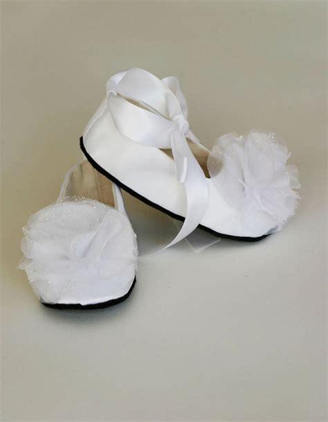 white satin toddler shoe easter baby shoe wedding by babysouls