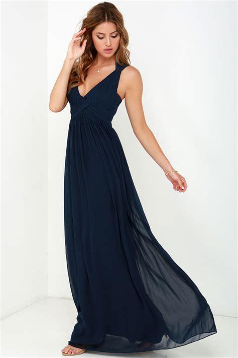 Slip On Minerva Navy maxi dress backless dress navy blue dress 88 00