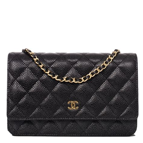 Sale Tas Wanita Lv Classic Woc chanel black classic quilted caviar wallet on chain woc world s best