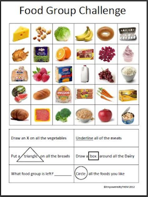 guess my word 35 food items worksheet free esl empowered by them food challenge skills