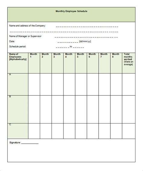 monthly staffing schedule template showbizprofile com