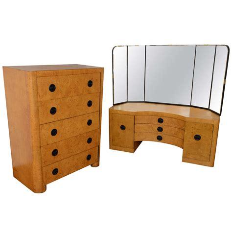 german art deco bedroom set saturday sale at 1stdibs american art deco mirrored vanity and high boy at 1stdibs