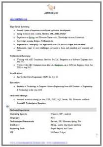Resume Format Computer Engineer Exle Template Of An Excellent Computer Science Engineer Experienced Resume Format With Great