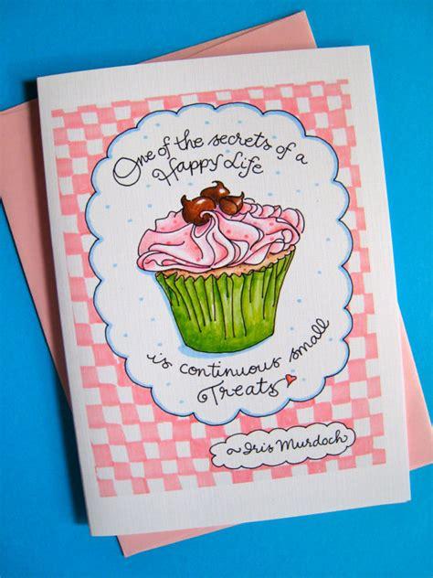 Birthday Card Cupcake Birthday Cupcake Card Birthday Card For Her Birthday Card