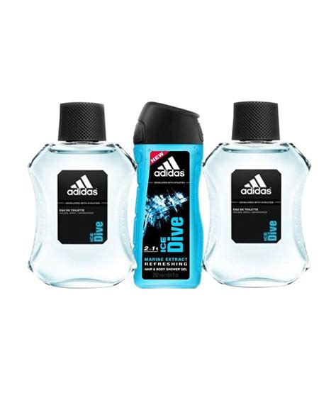 adidas ice dive adidas ice dive 1 shower gel 2 edt set of 3 for men