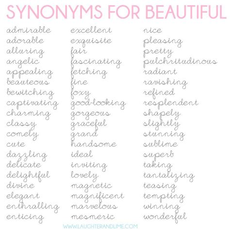 synonyms for beautiful local