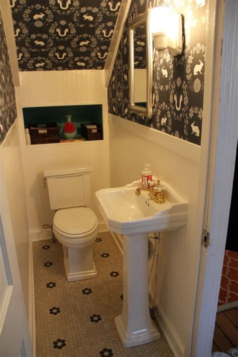 under the stairs bathroom ideas bathroom under front stairs upgrades for the brick