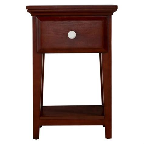 White One Drawer Nightstand One Drawer Nightstand In Chestnut And White