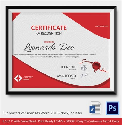 customized certificate templates 50 creative custom certificate design templates free