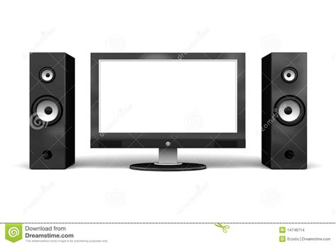 Speaker Tv wide tv with speakers stock images image 14748714