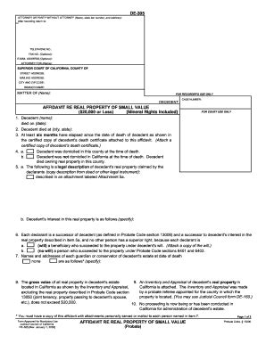 probate code section 13100 2003 form ca de 305 fill online printable fillable