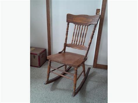armless folding rocking chair antique pressed back armless rocker south