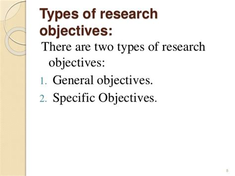 statement of research objectives research objectives