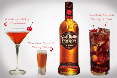 southern comfort flavors cherry cola mixer drinks