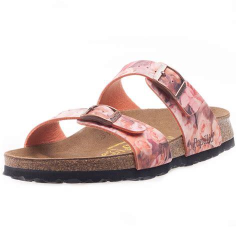 flowered birkenstock sandals birkenstock sydney birko flor silky womens sandals