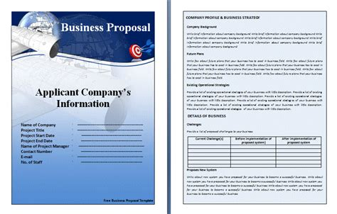 business proposal template formsword word templates