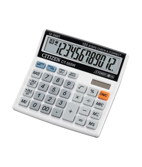 Citizen Calculator Ct 555 N Citizen Ct 555w Basic Calculator Buy At Best Price