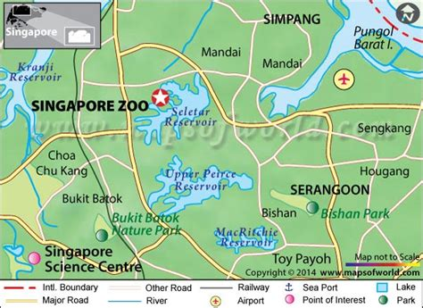 singapore zoo map location facts  time  visit