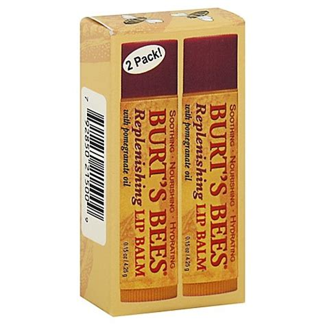 Burts Bees Replenishing Lip Balm With Pomegrante 1 burt s bees 2 pack replenishing 15 oz lip balm with pomegranate bed bath beyond