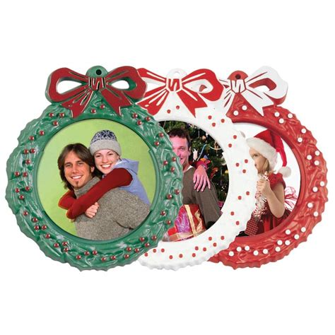 """Christmas Tree Photo Holder Wreath 2 1/4"""" Picture"""