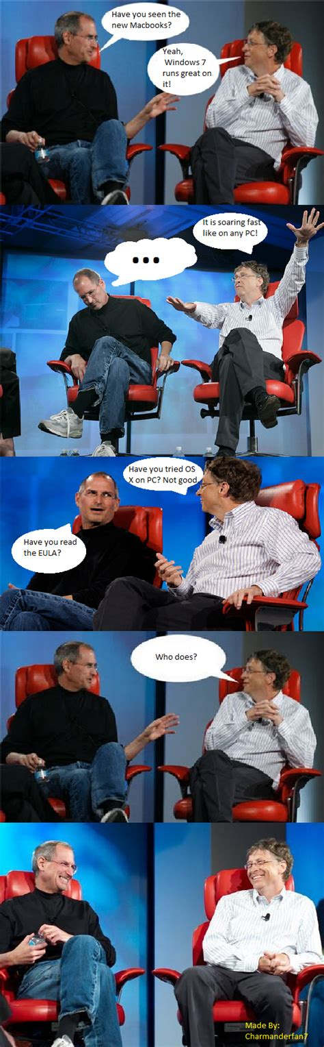 Bill Gates And Steve Jobs Meme - steve jobs bill gates meme memes