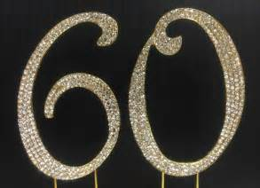 cake topper numbers gold rhinestone number 60 cake topper 60th birthday