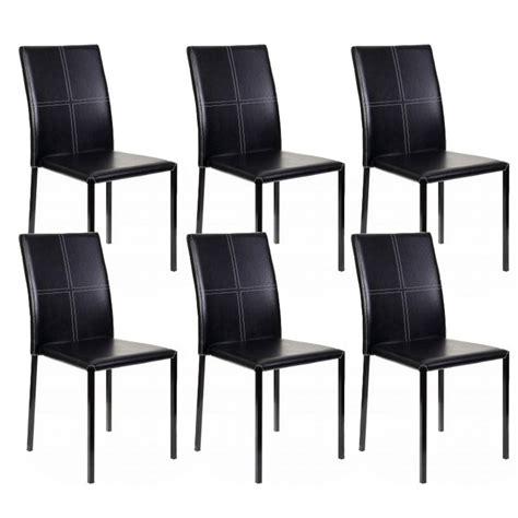 lot 6 chaises noires lot de 6 chaises quot elvio quot noir