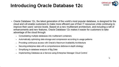 tutorial oracle database 12c oracle database 12c training youtube