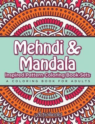 mandala coloring book waterstones mehndi mandala inspired pattern coloring book sets by